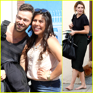 Artem Chigvintsev & Mischa Barton Work On Their Cha Cha For DWTS