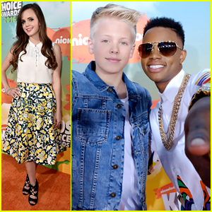 Carson Lueders Hangs With JiffPom at Kids Choice Awards 2016