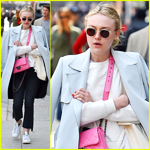 Dakota Fanning Introduces Dog Lewellen on Instagram