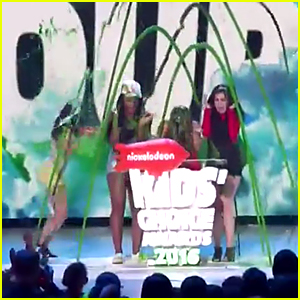 Fifth Harmony Get Slimed Together at Kids Choice Awards 2016 - Watch Now!