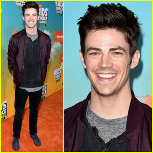 Grant Gustin Meets Up With Meghan Trainor  at the Kids Choice Awards 2016