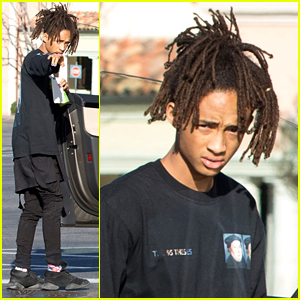 Jaden Smith Heads to Lunch in His Tesla Model X