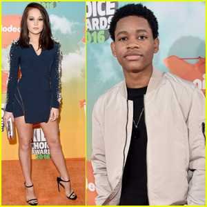 'Lab Rats' Stars Kelli Berglund & Tyrel Jackson Williams Arrive at Kids Choice Awards 2016