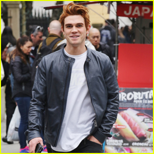KJ Apa Shows Off Red Archie Hair in Vancouver!