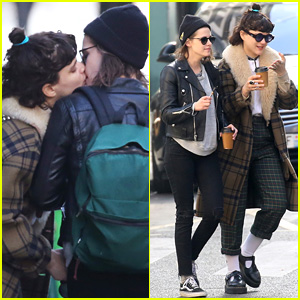 Kristen Stewart Gets a Kiss From Rumored Girlfriend Soko