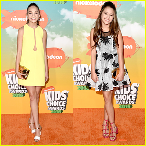 Maddie Ziegler Brings Sister Mackenzie To Kids Choice Awards 2016