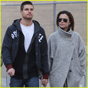 Robbie Amell & Italia Ricci Hold Hands for Lunch in Toronto