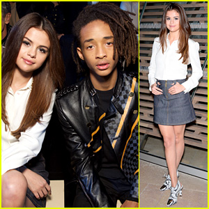 Selena Gomez Meets Up with Jaden Smith at Louis Vuitton Show!
