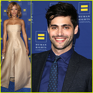 Serayah & Matthew Daddario Step Out For The Human Rights Campaign Dinner 2016