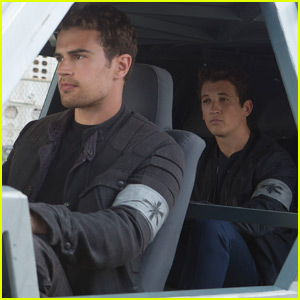 Theo James & Miles Teller Hit the Road in New 'Allegiant' Photos (Exclusive)