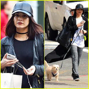 Vanessa Hudgens Celebrates National Puppy Day With Darla in Vancouver