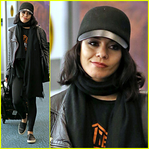 Vanessa Hudgens Touches Down in Vancouver Ahead of 'Powerless' Filming