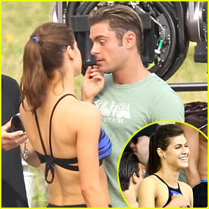 Alexandra Daddario Flirts With Zac Efron on 'Baywatch' Set in Miami