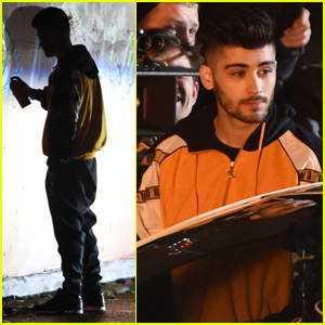 Things Get Fiery on the Set of Zayn Malik's New Music Video