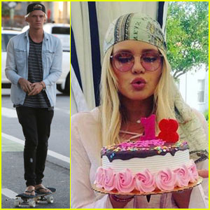 Cody Simpson Goes Skateboarding, Sister Alli Celebrates 18th Birthday