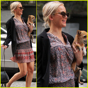 Jennifer Lawrence Enjoys New York City With Her Pup