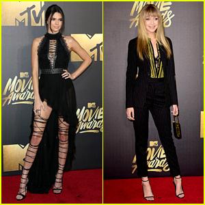 Kendall Jenner Joins Gigi Hadid on Red Carpet at MTV Movie Awards 2016