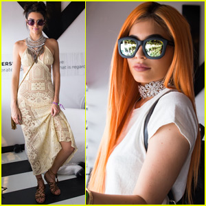 Kendall & Kylie Jenner Show Off Their Desert Style at Coachella Day One