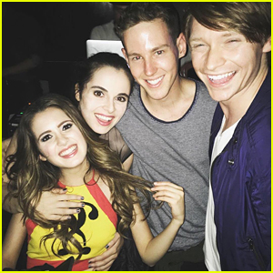 Calum Worthy Supports Laura Marano At Weekend Commodore Performance