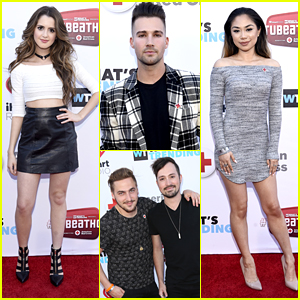 Laura Marano, Jessica Sanchez & James Maslow Raise Monies For American Red Cross at Tubeathon
