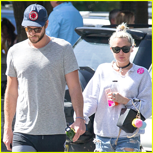 Miley Cyrus Is in Australia with Liam Hemsworth!