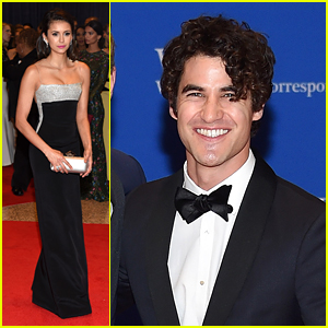 Nina Dobrev & Darren Criss Look Sharp at White House Correspondents' Dinner 2016