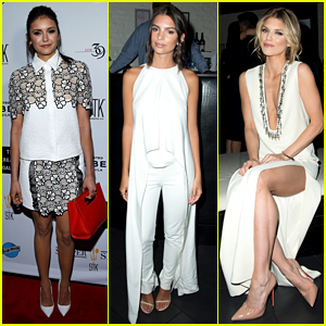 Nina Dobrev is White Hot at Pre-WHCD Event with AnnaLynne McCord!