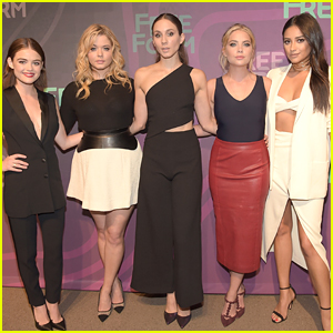 Lucy Hale & Ashley Benson Hit Freeform Upfronts With 'Pretty Little Liars' Cast