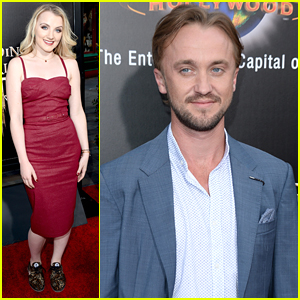 Tom Felton & Evanna Lynch Bring Magic To The 'Wizarding World of Harry Potter' Grand Opening Event