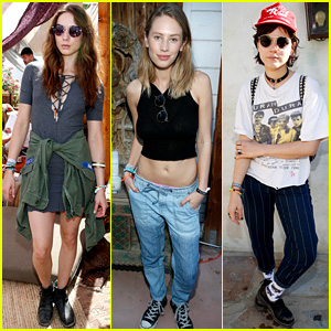 Troian Bellisario Spends Time at Coachella's Retreat Palm Springs Party