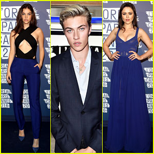 Barbara Palvin, Lucky Blue Smith & Kristina Bazan Obsess Over Blue With L'Oreal