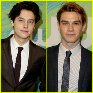 Cole Sprouse Suits Up for CW Upfronts With 'Riverdale' Co-Star KJ Apa!