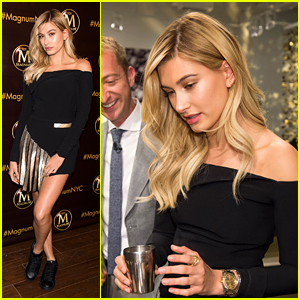 Hailey Baldwin Gets 'Sweet' Deal at Magnum New York Opening