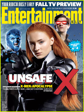 Sophie Turner Transforms into Jean Grey for 'X-Men: Apocalpse' EW Cover!