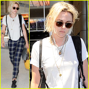 Kristen Stewart Catches a Flight Out of Los Angeles
