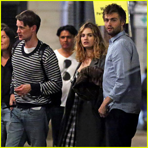 Douglas Booth Joins Lily James & Matt Smith for Night Out in London