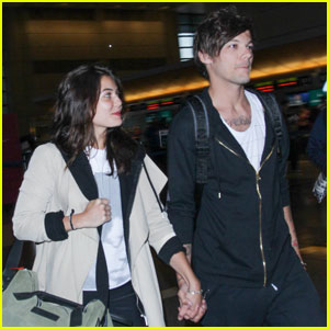 Louis Tomlinson & Danielle Campbell Lock Hands at LAX