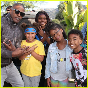 Miles Brown & Marsai Martin Learn Karate at Jamie Foxx's 'TMNT' Event!