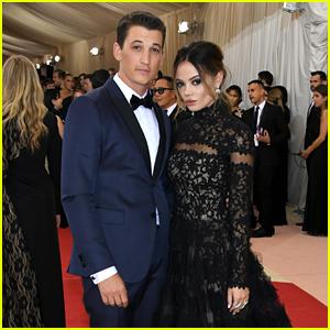 Miles Teller Joins Girlfriend Keleigh Sperry for Met Gala 2016