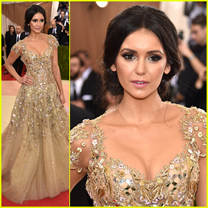 Nina Dobrev Is Mirrored in Marchesa at Met Gala 2016