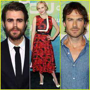 Paul Wesley, Candice King, & Ian Somerhalder Rep 'Vampire Diaries' at CW Upfronts 2016
