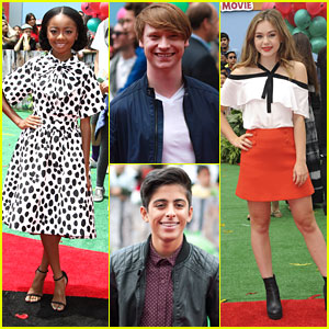 Skai Jackson & Calum Worthy Hit Up 'Angry Birds' Premiere With Brec Bassinger