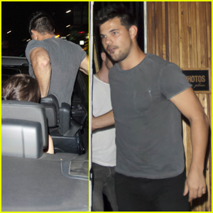 Taylor Lautner Leaps into His Car While Leaving The Nice Guy