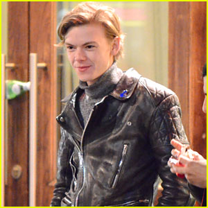 Thomas Brodie-Sangster Goes Out For Motorcycle Ride in London