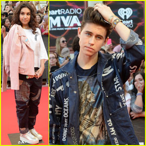 Nash Grier Presents to Alessia Cara at MuchMusic Video Awards 2016