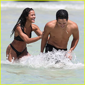 Austin Mahone Hits The Beach with Girlfriend Katya Henry in Miami