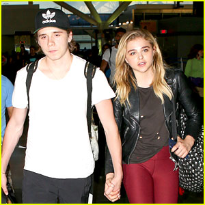 Chloe Moretz & Brooklyn Beckham Jet Back to L.A. After Her Photo Shoot