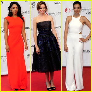 Candice Patton & Danielle Panabaker Rep 'The Flash' in Monte-Carlo