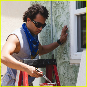 Corbin Bleu Helps Build Homes With Habitat for Humanity in L.A.