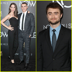 Daniel Radcliffe Joins Dave Franco & Alison Brie at 'Now You See Me 2' Premiere